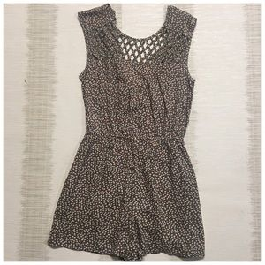 AMERICAN RAG M Floral cut out chest Romper